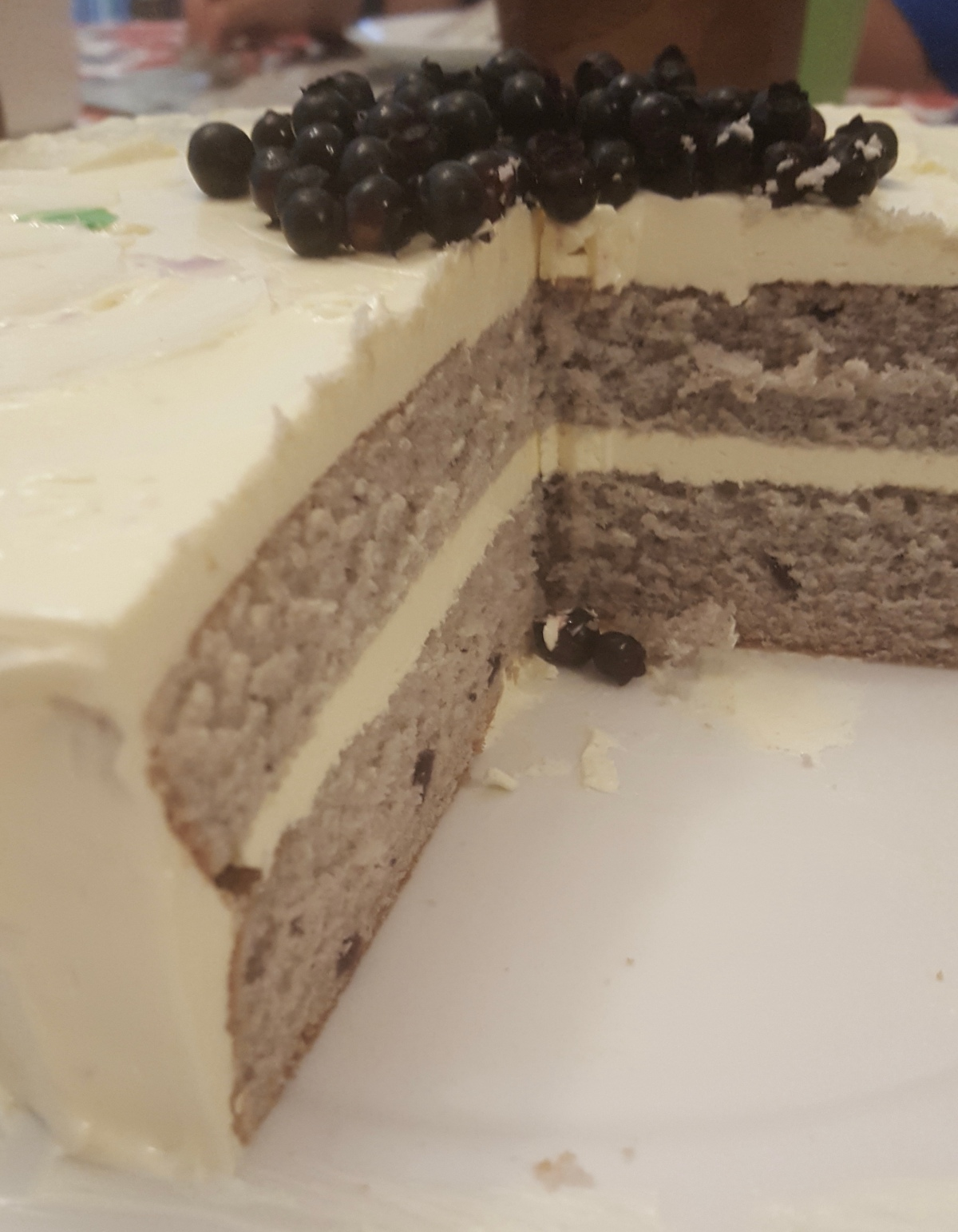 Blueberry Birthday Cake